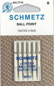 29343: Schmetz S1714 Ballpoint Needles 5-pk sz12/80