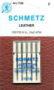 29352: Schmetz S1786 130/705H-L Wedge Point Leather Needles 5Pk Size 18/110