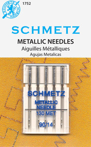 29354: Schmetz S1752 Metallic Needles 5-pk sz14/90