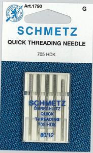 29357: Schmetz S1790 Self-Threading Needles 5pk sz12/80