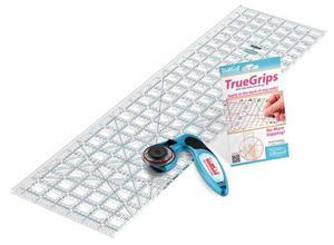 "29420: Grace TrueCut Quilter's Combo: 6.5X 24"" Ruler, CC45 Rotary Cutter, True Grips 8TG"