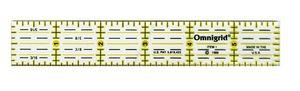 """OmniGrid OG1 1x6"""" Gridded Lines Handy Quilting Ruler"""