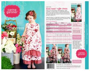 Carina Gardner CGP1 Love Nest Ruffle Dress sz 2T-8Yrs