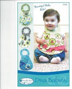Vanilla House VHP181 Diva Babies Bibs Pattern