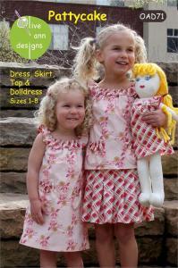 Olive Ann Designs OAD71 Pattycake Pattern Sizes 1-8