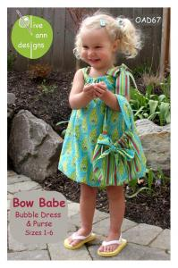 Olive Ann Designs OAD67 Bow Babe Bubble Dress Pattern Sizes 1-6