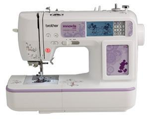 Brother NV950D Classroom 129 Stitch Sewing 4x6.75 Hoop Embroidery Machine USB, 105 Designs 35 Disney 9 Fonts, My Custom Stitch 7mm Digitizing+10Extras