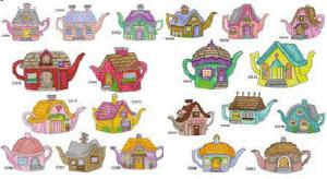 Amazing Designs Great Notions 1289 Tea Pots 20 Embroidery Designs CD