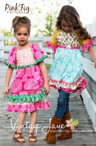 Pink Fig PF28 Vintage Jane Pattern Peasant Top And Dress 2T to 10
