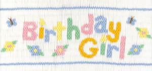 29979: Cross-eyed Cricket CEC252 Birthday Girl Smocking Plate Pattern