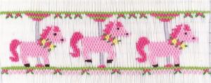 Cross-eyed Cricket CEC262 Pretty Little Ponies Smocking Plate