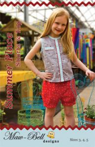 Maw Bell MBD220 Summer Place Shorts & Top Size 3-5 And 6-8