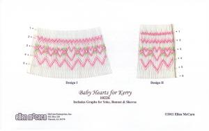 Ellen McCarn 10226 Baby Hearts For Kerry  Smocking Plate
