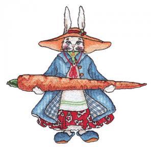 Amazing Designs ADP 42J Rabbits in My Garden Jumbo Embroidery Designs CD by artist J. Wecker Frisch