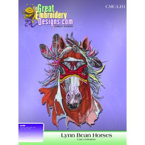 Great Notions Inspiration Collection Lynn Bean 16 Horses Licenced Embroidery Designs CD in ART, DST, EXP, HUS, PES, XXX Formats