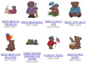 Great Notions 111958  JUMBO TEDDY  Multi-Formatted CD Embroidery Designs