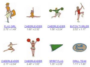 Great Notions 110030  Cheerleading  Multi-Formatted CD Embroidery Designs