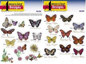 Amazing Designs / Great Notions 1293 Butterflies Collection Multi-Formatted CD