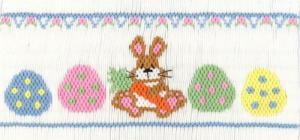 Cross-eyed Cricket  CEC253 Bodacious Bunny Smocking Plate