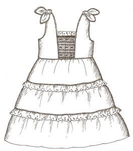 Primrose Lane  PL96B Miranda Dress, Shorts and Top sz 2-8 Pattern