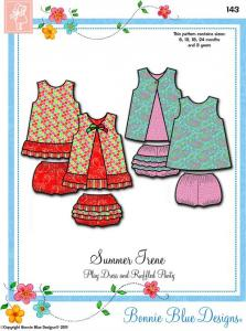 Bonnie Blue BBDP143 Summer Irene Dress Sewing Pattern Sizes 12Mo-3Yrs