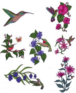 Great Notions 111815 Jumbo Hummingbirds II Embroidery Designs Multi-Formatted CD