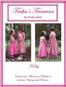 Trishas Treasures tt-kelly  Kelly  The Halter Dress Pattern Sizes 1 - 6  And 7 - 12