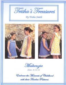 Trishas Treasures tt-makenzie Makenzie  A Line Dress With A Twist Pattern Sizes 1 - 6  And 7 - 12