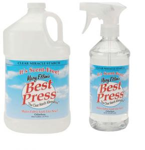Mary Ellen Best Press Clear Starch 16oz Spray Bottle 6959A +1 Gal Jug Refill 6959REF Scent Free
