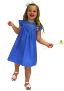 Childrens Corner CC280 Mamie Is A Round Yoke, Gathered Skirt, Ruffled Sleeves, Dress Pattern Sizes 3-6