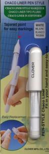 Clover CL4712A Chaco Liner Pen Style White