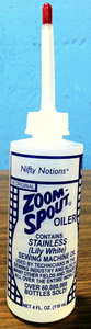 Zoom Spout S1749 Oiler Clear Non Detergent Sewing Machine Oil 4oz Tube