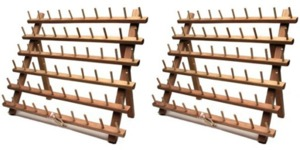"P60670 60 Cylinder Spool Thread Wood Racks and Stands 13x14"", Pack of 2 for 120 Pins (like June Tailor JT672)"