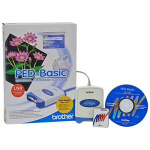 Brother, PED BASIC v 1.07, Embroidery Memory Card, Writer Box, Rewritable , 4MB, Blank Card, USB Cable, Downloads Designs