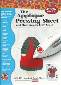 60420: Bear Thread Design 7588A Ironing Applique Pressing Sheet 18x20""
