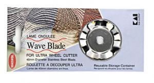 Kai 5045wBL 45 mm Rotary Cutter Wavy Edge Blade (1) Per Package, Japanese Made Tungsten Steel Blade
