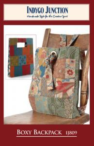 """Indygo Junction IJ809 Boxy Backpack Pattern ,Made From Charm Packs or 5"""" Squares"""