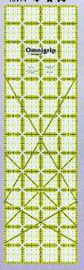 """31003: OmniGrid OGN14 Non-slip 4 X 14"""" Omnigrid Ruler Non-Slip Backing Eliminates Slipping"""