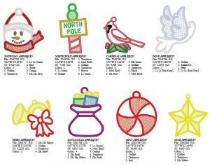 Dakota Collectibles 970450 20 ChristmasFree-Standing Appliqué Lace Ornaments Multi-Form CD