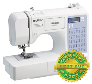 40464: Brother CS5055PRW Project Runway Computer Sewing Machine 50/87 Stitches, 5x1Step Buttonholes
