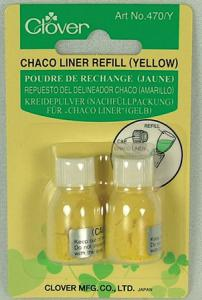 31144: Clover CL470/Y Chaco Liner Chalk Pencil Marking Powder Refills Yellow 2/PK, BOX OF 3 Equals 6