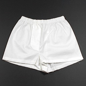 Baby Boy Boxer Shorts, Size 2 (6-12 mo) White Cotton with Spandex