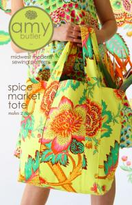 Amy Butler Designs AB051SP Spice Market Tote Bag Sewing Pattern