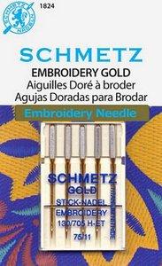 Schmetz S1824 Embroidery Gold Needles