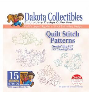 31414: Dakota Collectibles 970400 Quilt Stitch Patterns Sewin Big #37 Designs CD