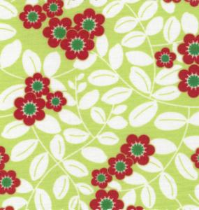 Fabric Finders  #1081 Chartreuse Floral 15 Yd Bolt 9.34 A Yd 100% Pima Cotton Fabric
