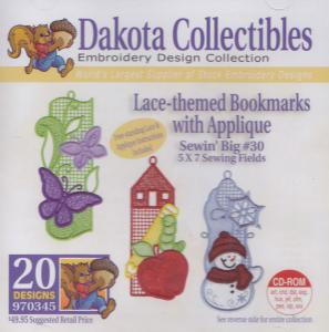 Dakota Collectibles 970345 Lace Themed Bookmarks 5 X 7 Designs Multi-Form CD