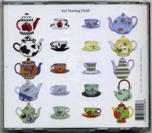 Dakota Collectibles 970258 Teapots and Teacups 2 Designs Multi-Form CD