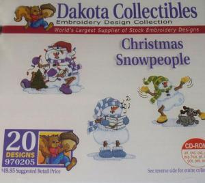 Dakota Collectibles 970205 Christmas Snowpeople Designs Multi-Form CD