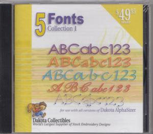 Dakota Collectibles 970235 Five Font CD For Dakota Sizer Software